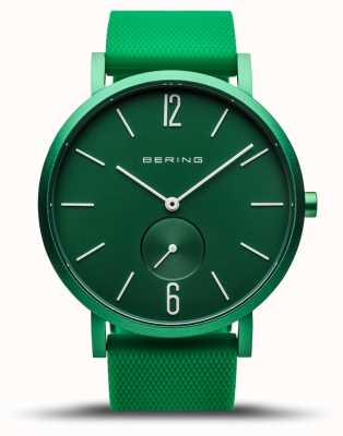 Bering |真正的极光|绿色橡胶表带|绿色表盘| 16940-899
