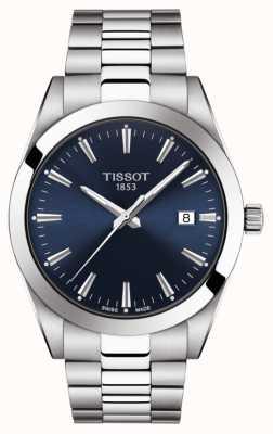 Tissot |绅士不锈钢手链|蓝色表盘| T1274101104100