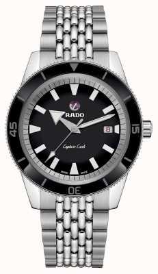 RADO XL'Captain Cook'不锈钢表链黑色表盘 R32505153