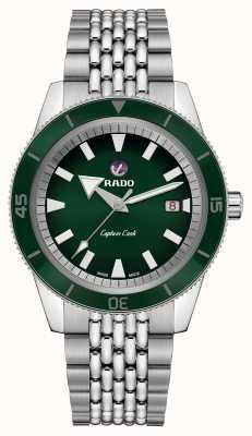 RADO XL'Captain Cook'不锈钢表链绿色表盘 R32505313