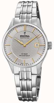 Festina |女士瑞士制造|不锈钢手链|银表盘 F20006/2