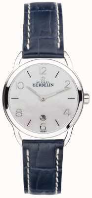 Michel Herbelin 女士拖把表盘不锈钢春分蓝色表带 16977/19BL