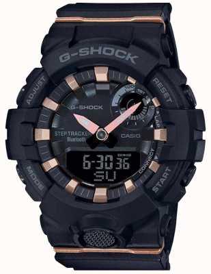 Casio | g-shock g-小队|黑色橡胶表带|蓝牙智能| GMA-B800-1AER