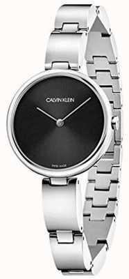 Calvin Klein |女士不锈钢手链|黑色表盘| K9U23141