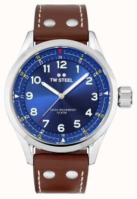 TW Steel |男士瑞士沃兰特|蓝色表盘|棕色皮革表带| SVS102