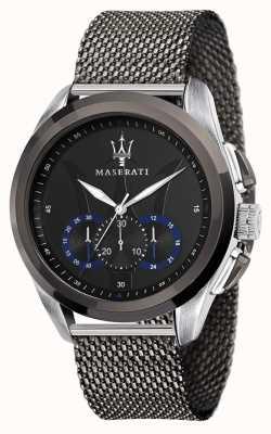 Maserati Traguardo |灰色钢网手链|黑色表盘 R8873612006