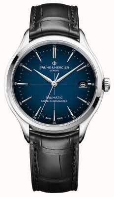 Baume & Mercier 克利夫顿|宝贝cadran蓝色表盘|黑色表带 M0A10467