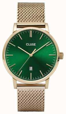 CLUSE 阿拉维斯|金色网眼手链|绿色表盘 CW0101501006