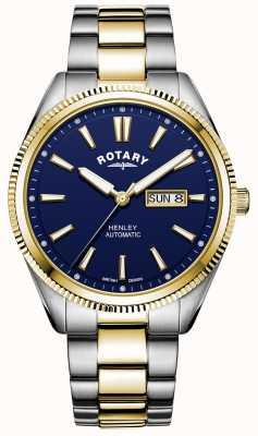 Rotary 男士亨利|两音不锈钢手链|蓝色表盘 GB05381/05