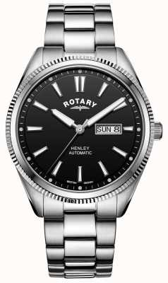 Rotary 男士亨利|不锈钢手链|黑色表盘| GB05380/04