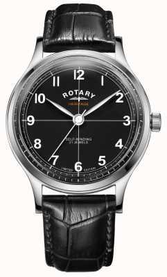 Rotary 男士限量版传承|黑色皮革表带| GS05125/04