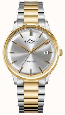 Rotary 男子复仇者|二音不锈钢|银表盘| GB05401/06