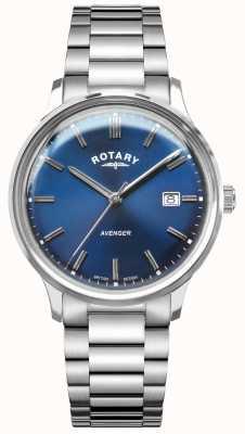 Rotary 男子复仇者|不锈钢手链|蓝色表盘 GB05400/05
