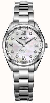 Rotary 女士henley |不锈钢手链|镶钻表盘 LB05110/07/D