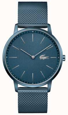 Lacoste 男人的月亮|蓝色pvd网眼手链|蓝色表盘 2011057