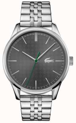 Lacoste 男士维也纳|不锈钢手链|灰色表盘 2011073