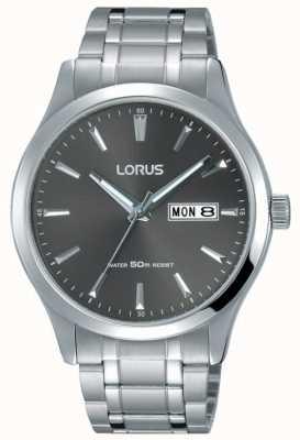 Lorus 男士不锈钢手链灰色表盘 RXN35DX9