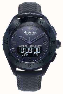 Alpinarx |太空版|智能手表|蓝色皮革表带 AL-283SEN5NAQ6