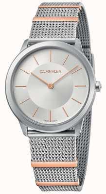 Calvin Klein |最小|钢网手链|银表盘| 35毫米 K3M521Y6
