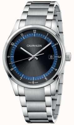 Calvin Klein |完成|不锈钢手链|黑色/蓝色表盘| KAM21141