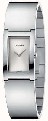 Calvin Klein |抛光|不锈钢手链|银色矩形表盘 K9C2N116