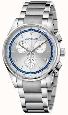 Calvin Klein  完成 不锈钢手链 银色/蓝色表盘  KAM27146
