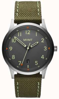 MVMT 男装领域绿色帆布表带|灰色表盘 28000014-D