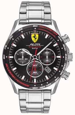 Scuderia Ferrari |男士领航evo |不锈钢手链|黑色表盘| 0830714