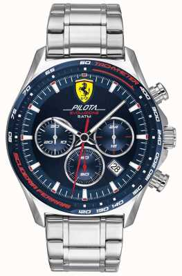 Scuderia Ferrari |男士领航evo |不锈钢手链|蓝色表盘 0830749