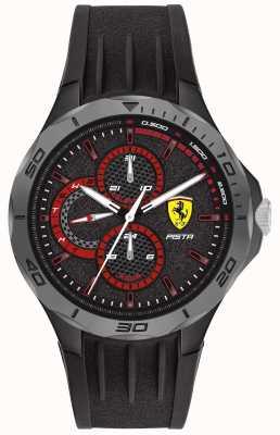 Scuderia Ferrari |男士pista |黑色橡胶表带|黑色表盘 0830725