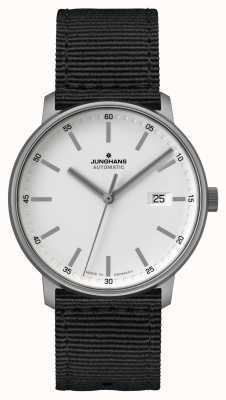 Junghans 形成|泰坦自动|北约黑色表带|白色表盘 027/2000.00