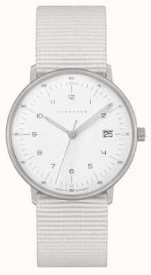 Junghans Max Bill Damen |白色尼龙表带|白色表盘 047/4050.04