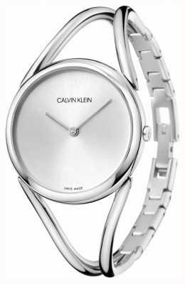 Calvin Klein |女士不锈钢手链|银表盘| KBA23126
