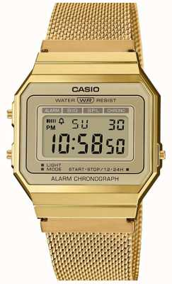 Casio |集合|钢网手链|数字表盘 A700WEMG-9AEF