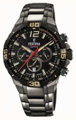 Festina 计时自行车2020限量版灰色精钢表链 F20527/1