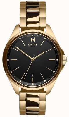 MVMT |科罗纳达女子|金色钢手链|黑色表盘 28000005-D