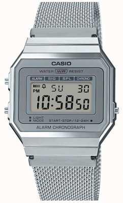 Casio |年份|钢网手链|秒表| LED背光 A700WEM-7AEF