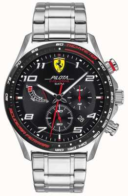 Scuderia Ferrari |男士领航evo |不锈钢手链|黑色表盘 0830720