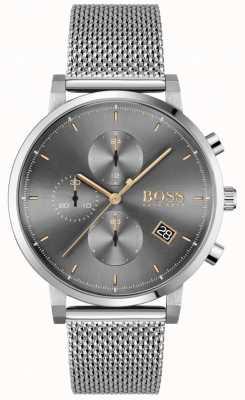BOSS |男士正直|钢网手链|灰色/黑色表盘 1513807