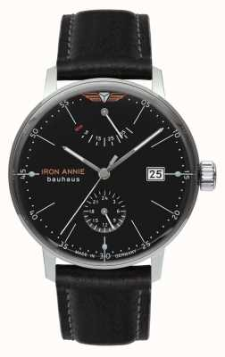 Iron Annie 包豪斯|自动|黑色皮革表带|黑色表盘 5060-2