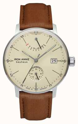 Iron Annie 包豪斯|自动|浅棕色皮革表带|米色表盘 5060-5