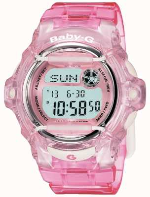 Casio 婴儿g粉红色表带数字显示 BG-169R-4ER