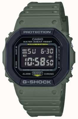 Casio G-shock |绿色橡胶表带|数字显示 DW-5610SU-3ER