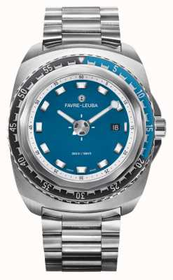 Favre Leuba 突袭者深蓝44不锈钢手链|蓝色表盘| 00.10102.08.52.20
