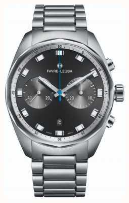 Favre Leuba 天空首席计时码表|不锈钢手链|黑色表盘 00.10202.08.11.20