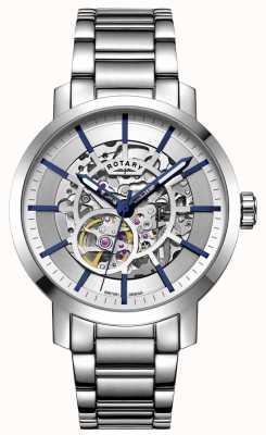 Rotary 格林威治自动|不锈钢手链|银色表盘 GB05350/06