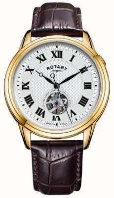 Rotary 剑桥自动|棕色皮革表带|银色表盘 GS05368/70