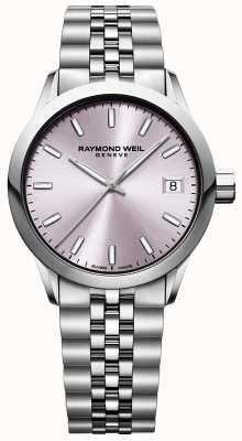 Raymond Weil 妇女自由职业者|不锈钢手链|粉色表盘 5634-ST-80021