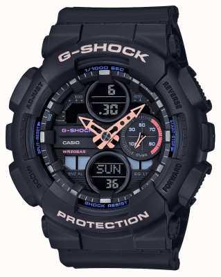 Casio G-shock男女通用彩色表盘|黑色表带 GMA-S140-1AER