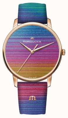 Maurice Lacroix Eliros彩虹限量版|彩虹皮表带 EL1118-PVP01-090-1